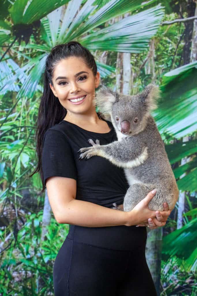 girl holding koala cairns zoom wildlife dome